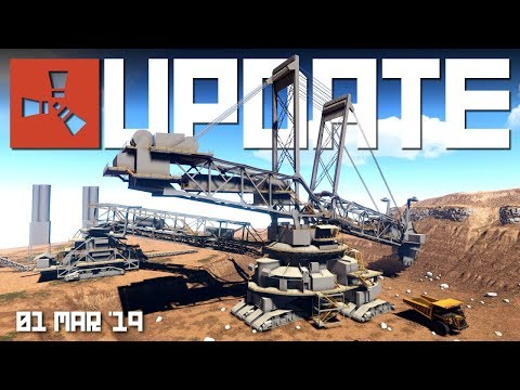 EXCAVATOR monument first look, NEW water and.. Coconuts?? | RUST update 1st March 2019 thumbnail