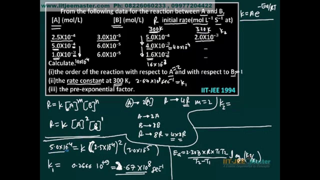 chemistry problem solver online iit jee chemical kinetics chemistry ...