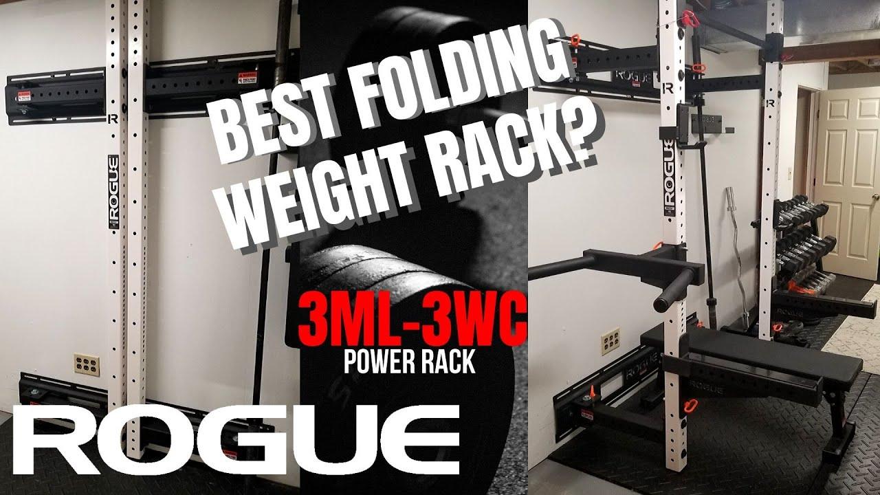 rogue home gym folding rack diy install review rml 3wc