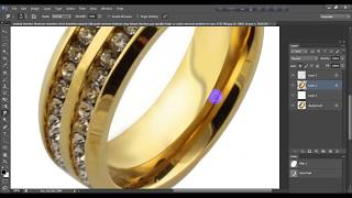 Retouch Golden jewelry in photoshop.