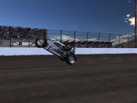 rFactor - 321 Development Bandit Wingless Sprint Cars - Calistoga Speedway