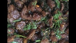 Andhra style mutton fry with only 3 ingredients || Simple & Tasty Mutton Fry ||