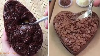 How To Make A Chocolate Cake | The Most Satisfying Cake Video In The World 🍰🍰🍰👏✍