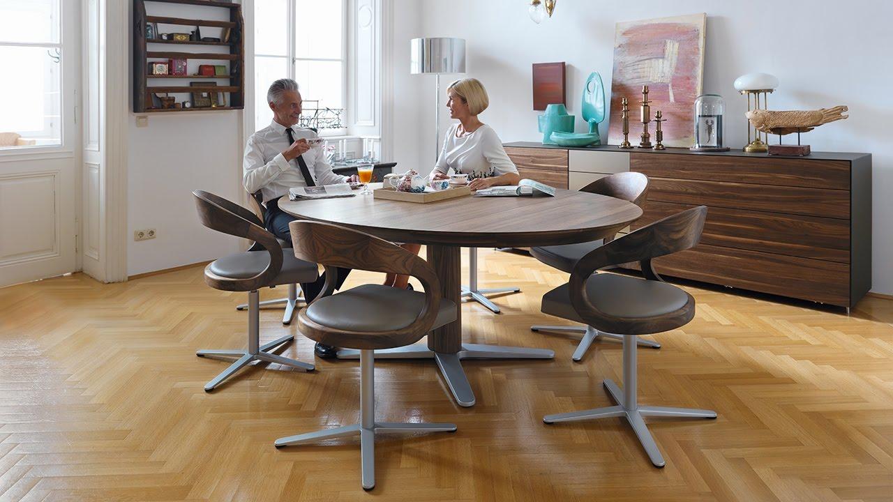 team 7 girado tisch und stuhl cubus vitrine cubus pure. Black Bedroom Furniture Sets. Home Design Ideas