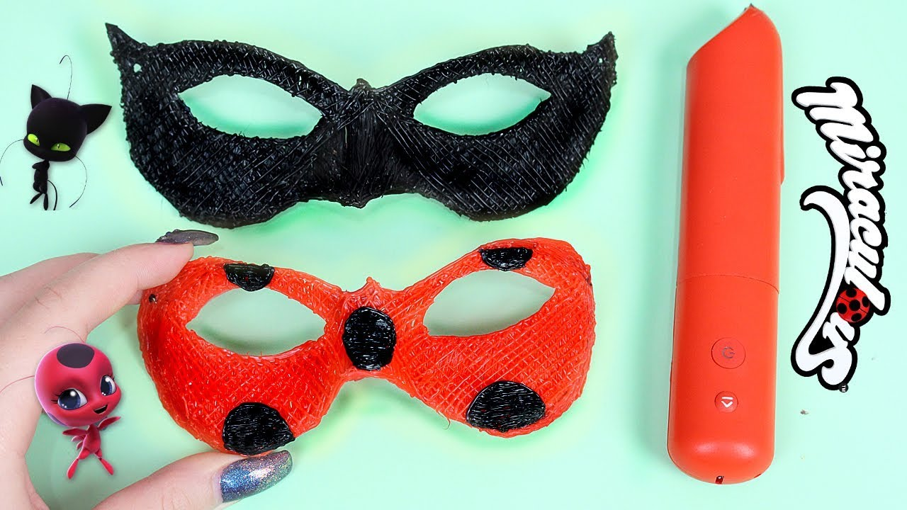 Diy maschere lady bug e chat noir miraculous 3d simo for Immagini da stampare di miraculous
