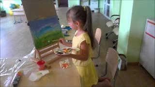 Урок рисования для малышей.