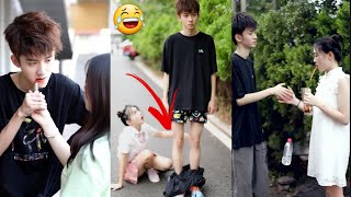 He try his best technic to flirt her/Cute and Funny Couple