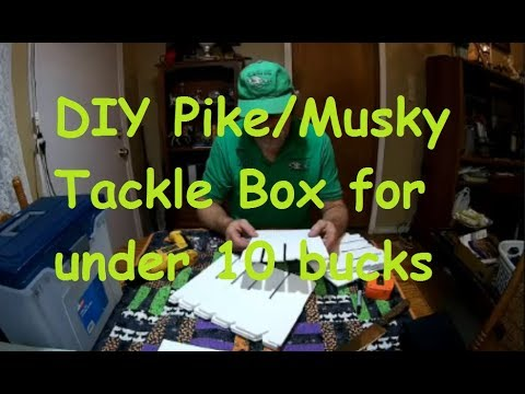 D.I.Y. Pike / Musky / Bass crankbait,  Tackle box  for under $10