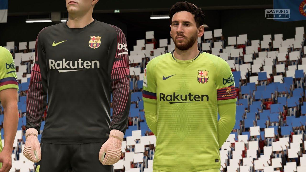 nueva llegada más de moda marca popular FIFA 19 | Espanyol vs FC Barcelona - RCDE Stadium - (Full Gameplay Xbox One  X)