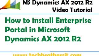 05 - Hoe te installeren Enterprise Portal in Microsoft Dynamics AX 2012 R2