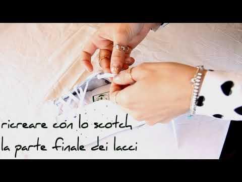 come mettere i lacci dentro le scarpe