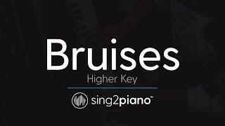 Bruises (Higher Key - Piano Karaoke Instrumental) Lewis Capaldi