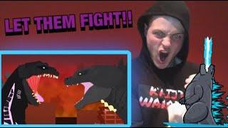 Legendary Godzilla vs Shin Godzilla Dinomaina REACTION!!!