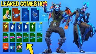 ALL LEAKED FORTNITE SKINS & EMOTES..!!! (Slick, Flux, Whirlwind, Ice Queen Skin...)