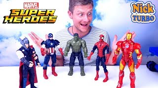 Супергерои против Таноса | Распаковка Капитан АМЕРИКА Marvel Legends / Superheroes с Капитан Андроид