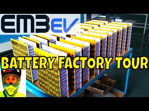EM3EV battery factory tour - State of the art 18650 battery packs