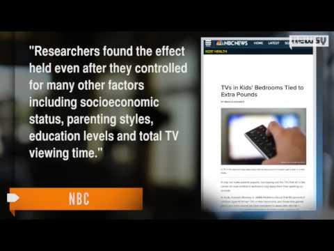 TVS IN CHILDREN'S BEDROOMS LINKED TO WEIGHT GAIN