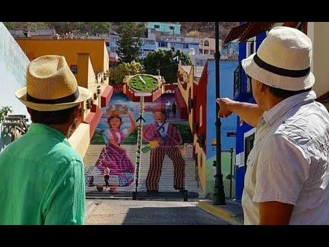 NUEVA IMAGEN DE LA CALLE DE LAS ESCALERAS DE ATLIXCO DE LAS FLORES, PUEBLA MÉXICO.