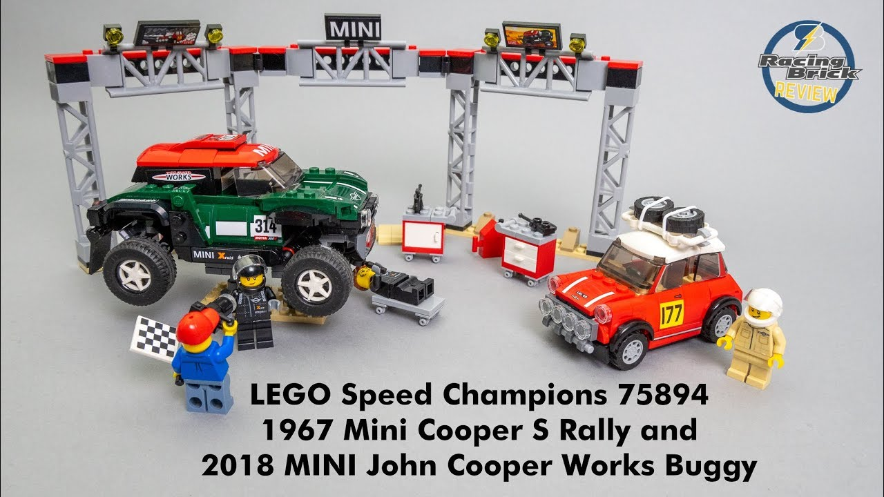 LEGO 75894 Speed Champions 1967 Mini Cooper S Rally and 2018 MINI John Cooper Wo