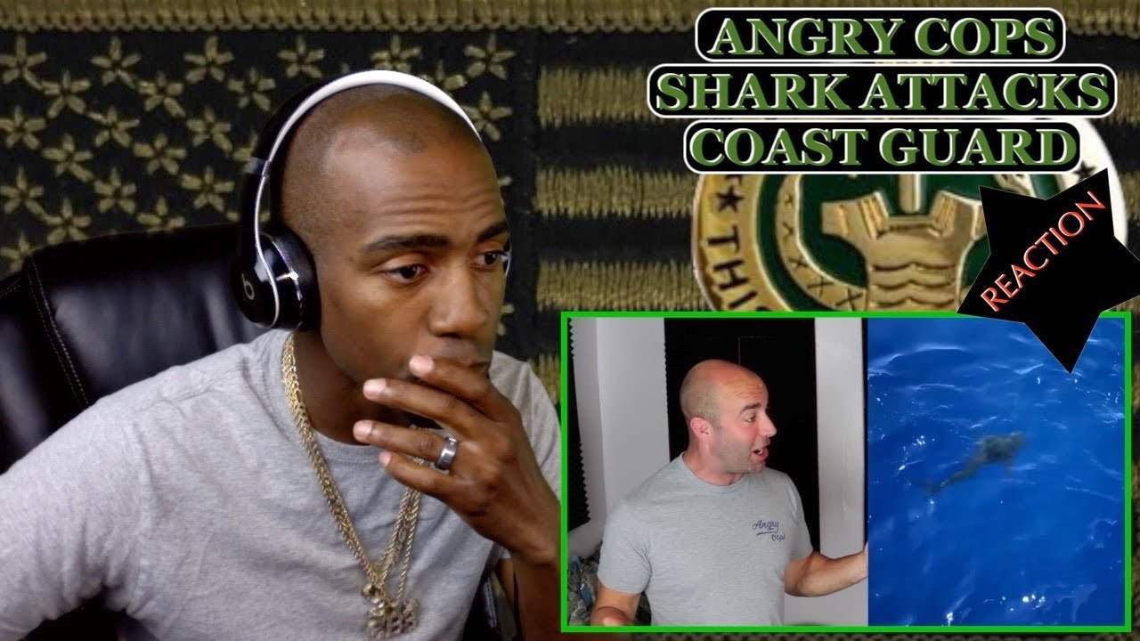 [ANGRY COPS] SHARK ATTACK COAST GUARD IN OPEN WATER [REACTION]