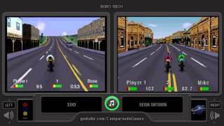Road Rash (3DO vs Sega Saturn) Side by Side Comparison