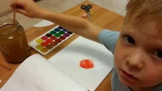 Урок Изо для детей 4-х лет, Школа дизайна Эскалье. Таганрог