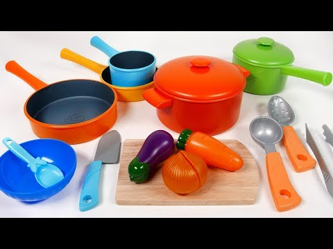 Thumbnail: Cookware Pots and Pans Toy Playset for Children Kitchen Cooking Vegetable Soup Pretend Play for Kids