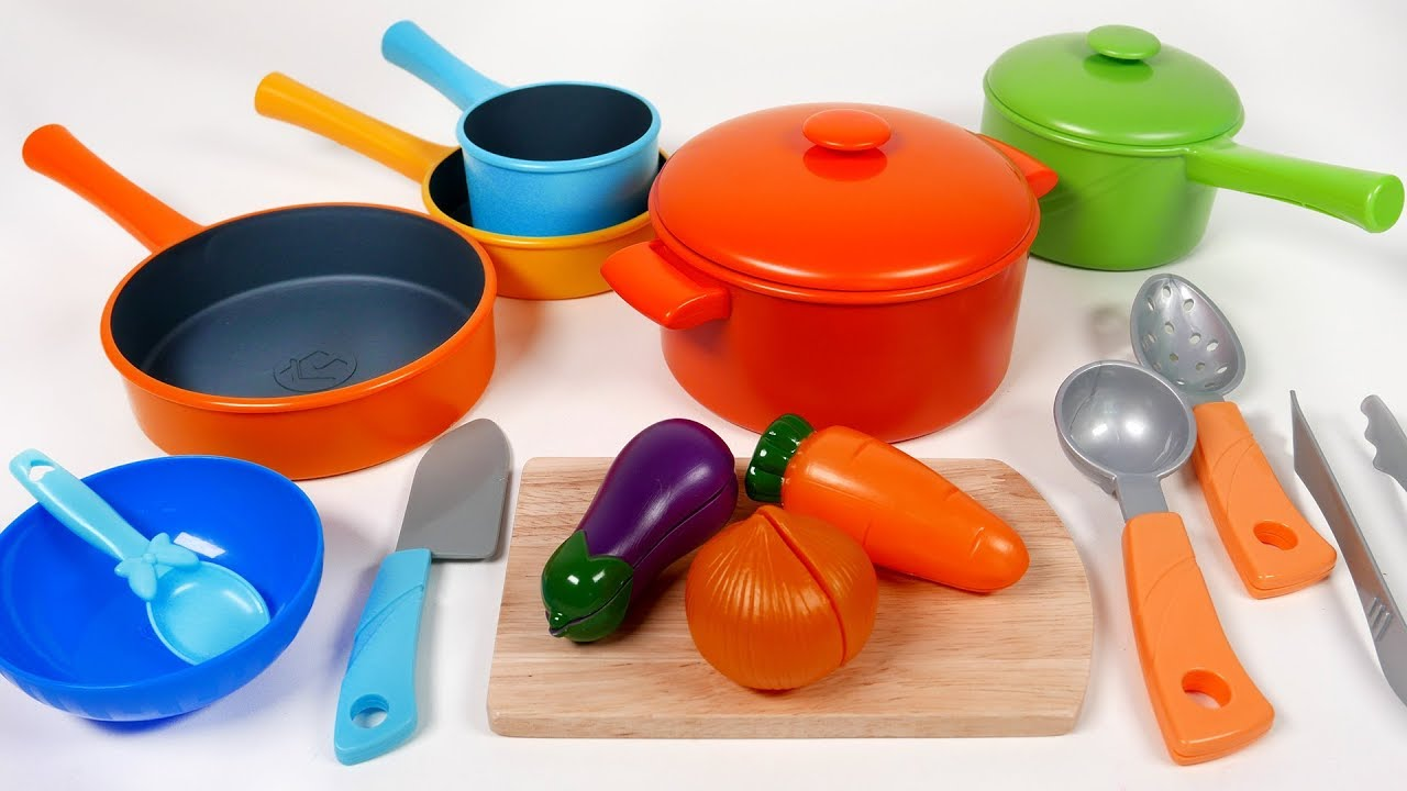 Toy Pots And Pans : Cookware pots and pans toy playset for children kitchen