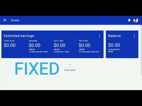 How to fix YouTube AdSense Estimated Earnings Stuck at zero - 0$ from your phone
