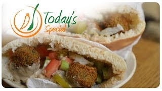 Falafel Sandwich Recipe - سندويش فلافل - How To Make A Delicious, Fast, Easy, Falafel Sandwich