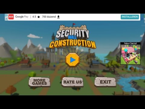 Security Wall Construction Game (Gameplay)
