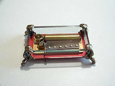 Reuge Glass music Box
