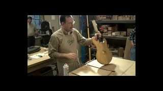 Guitar Finishing - Spray painting a guitar with a spray can