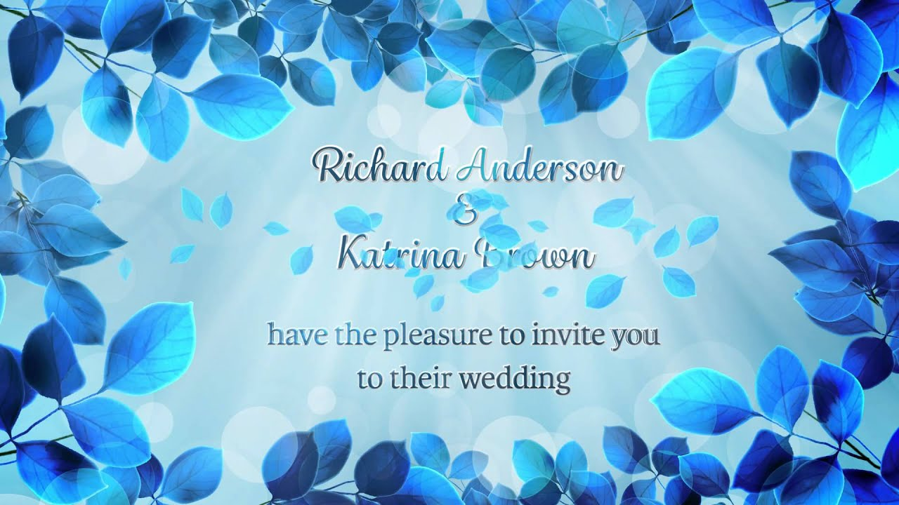 Custom Wedding Invitation Video