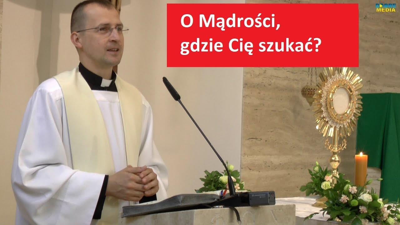 O Mądrości, gdzie Cię szukać? – ks. Radosław Siwiński