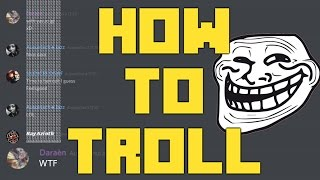 How To Troll Discord/Twitch Chat and Others !!!!