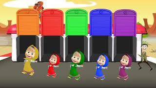 Mashaとクマは、私たちに色を塗る方法を教えてくれます - 子供たちが色々なことを学ぶための色(2018)Kachi Tv