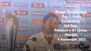 Kumar Sangakkara,  Day 2  Press  Conference, 3rd Test,   Pak v SL, Sharjah,  4 November 2011