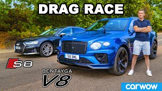 Bentley Bentayga review & DRAG RACE vs Audi S8!