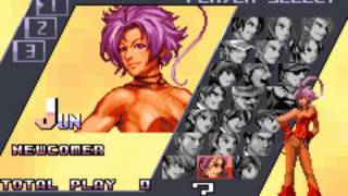 King of Fighters EX2 GBA Character Select