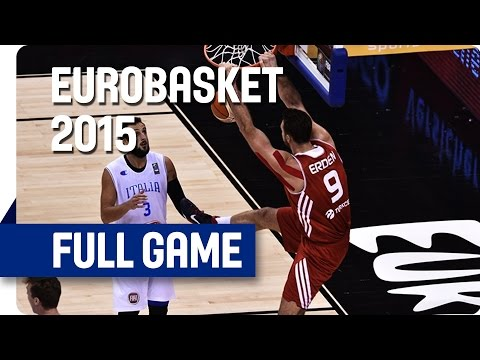 Italy v Turkey - Group B - Full Game - Eurobasket 2015