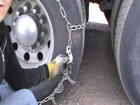 How To Put Chains On A Truck Tire Lancuchy Na Kola Trucka Youtube