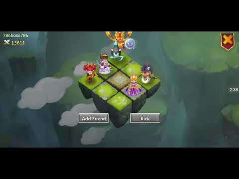 Castle Clash Team Dungeons Lava Isle 4 With Mix Of  F2P And P2P