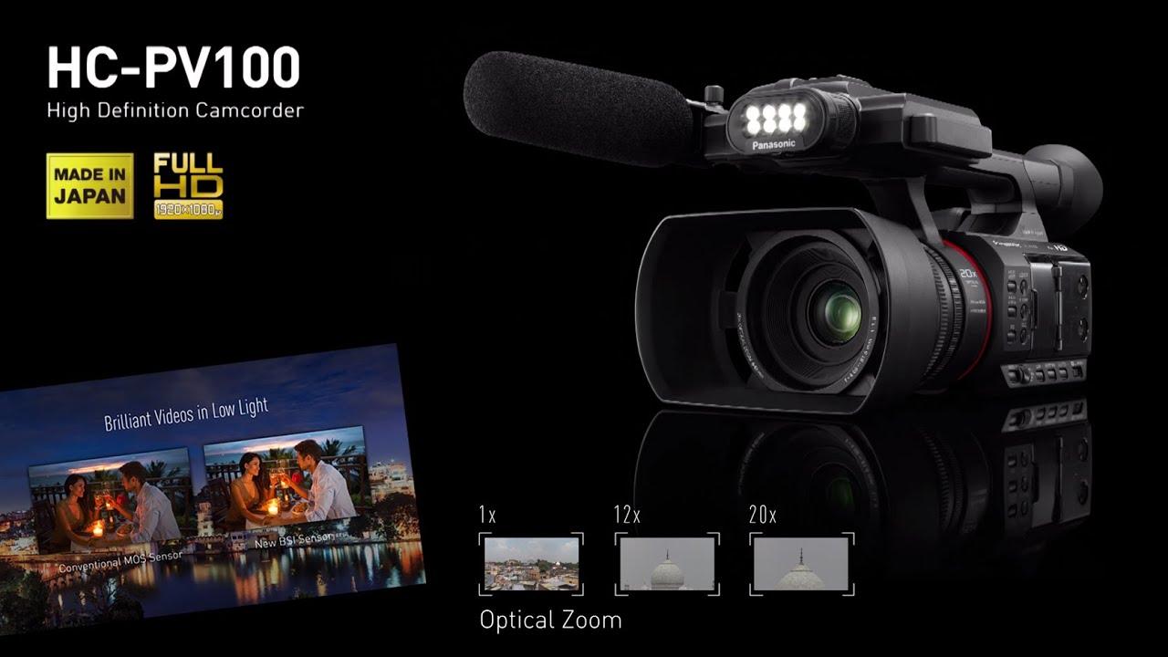 Panasonic Hc Pv100 New Semi Pro Video Camera Main Features Youtube