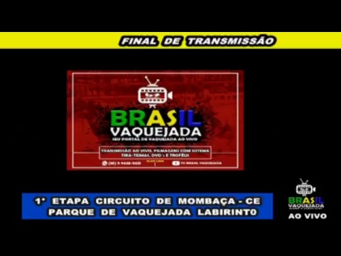 TRANSMISSÃO AO VIVO  TV BRASIL VAQUEJADA