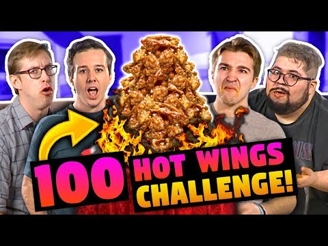 100 HOT WINGS CHALLENGE! (ft. Keith Habersberger & Chris Reinacher)
