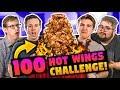 100 HOT WINGS CHALLENGE! (ft. Keith Habersberger & Chris Reinacher)