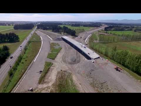 Christchurch Southern Motorway – Stage 2, February 2018 drone footage