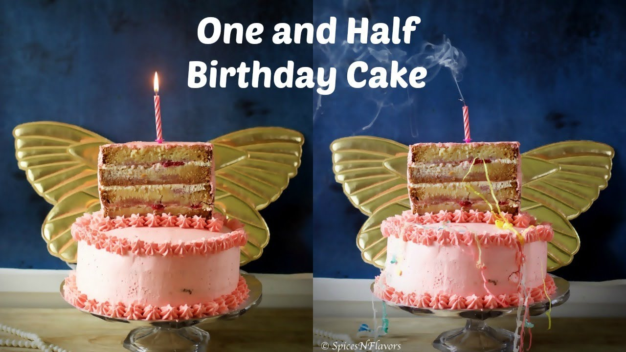 How to make a One and Half Birthday Cake Vanilla Strawberry