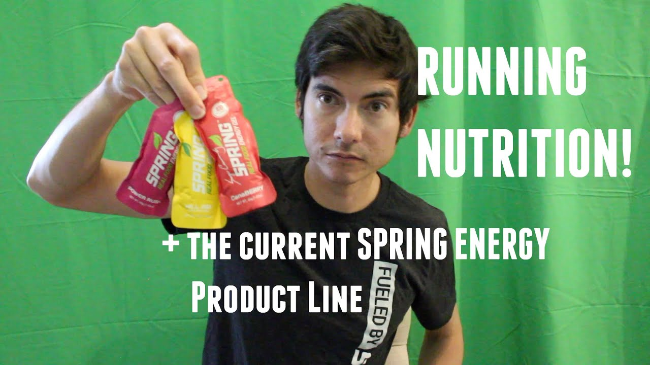 RUNNING ON NATURAL ENERGY FUEL: ENDURANCE NUTRITION + Current Spring Energy Product gel line